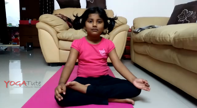 Kapalbhati Pranayam by 4 years old Sanvi