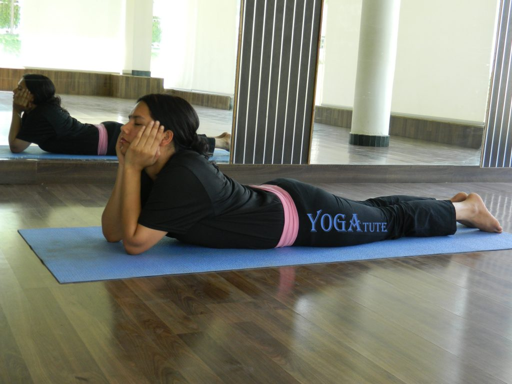 MAKAR-ASANA or CROCODILE POSE